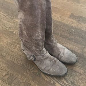 Grayish Brown Suede Born tall boots